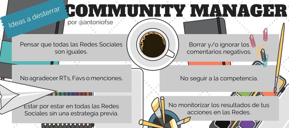 Community Manager: 6 Ideas a desterrar (Infografía)