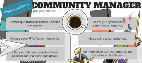 Community Manager: 6 Ideas a desterrar (Infografía)