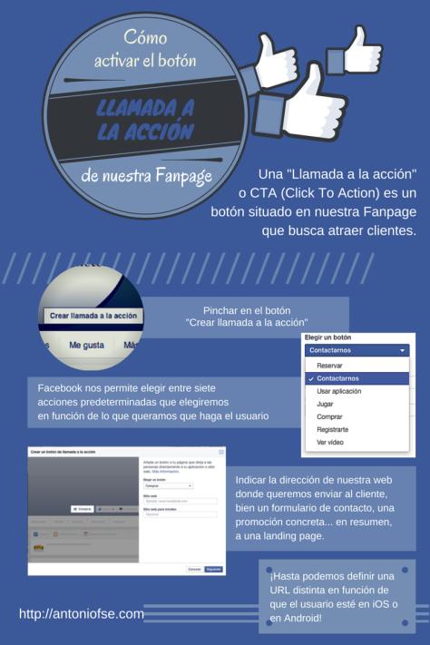 """Activar el botón """"Llamada a la acción"""" de Facebook (Infografía)"""
