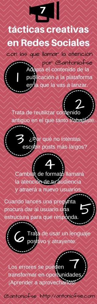7 tácticas creativas en Redes Sociales con las que llamar la atención (Infografía)