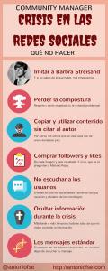 Community Manager: Crisis en las Redes Sociales. Qué no hacer (Infografía)