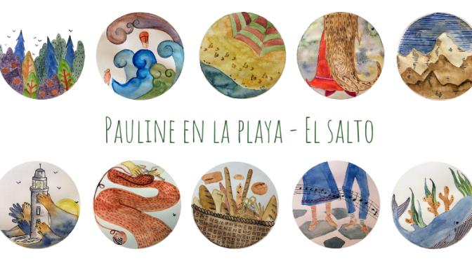 "Sketchbook – Pauline en la playa ""el salto"""